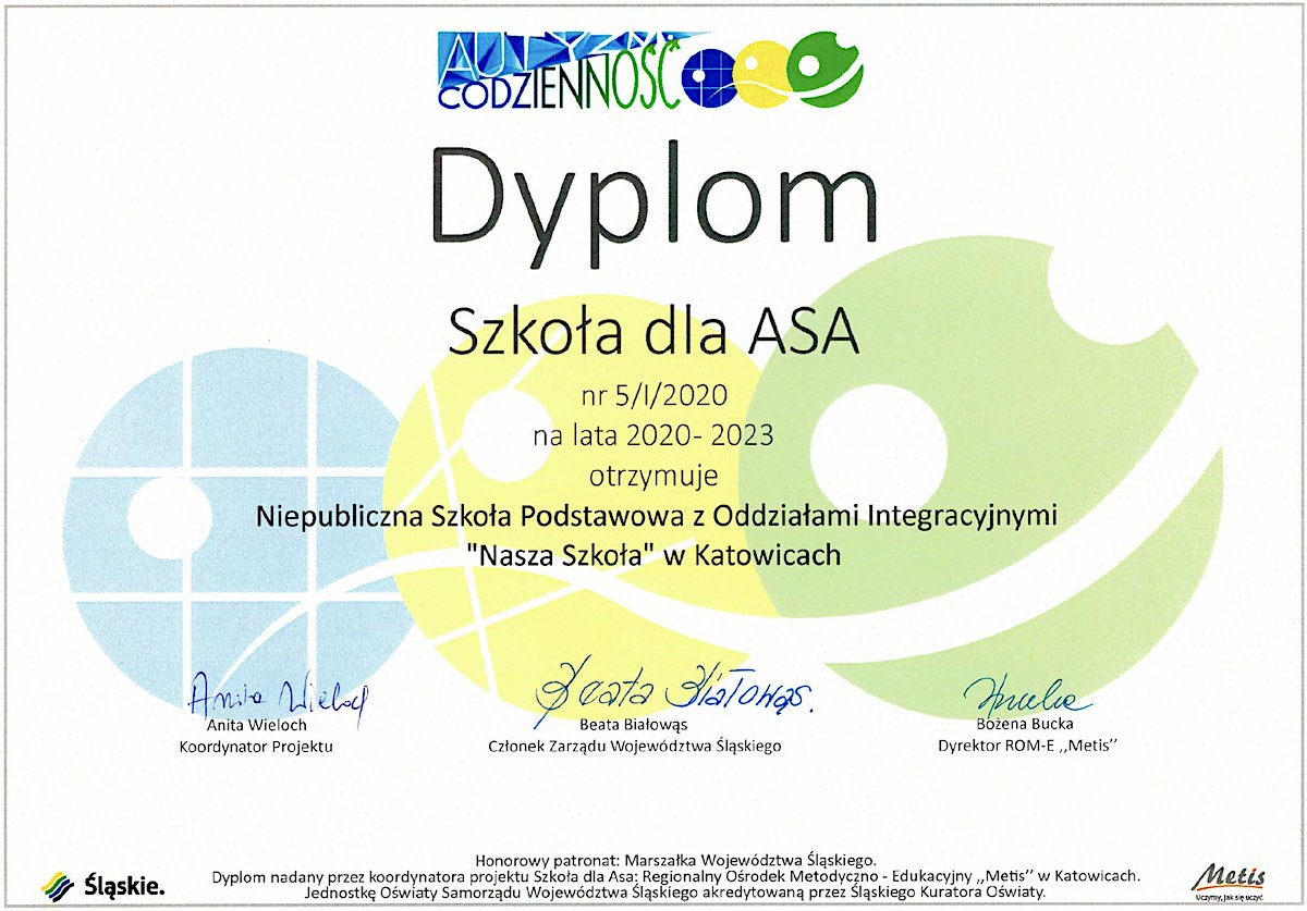 """You are currently viewing Dyplom """"Szkoła dla ASA"""""""